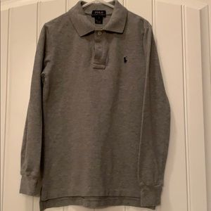 EUC boys long sleeve Polo shirt